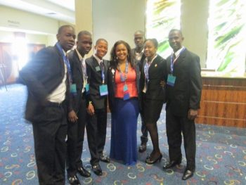 2013: Haitian students with an American Student Advisor